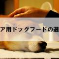 シニア犬用ドッグフードの特徴と選び方